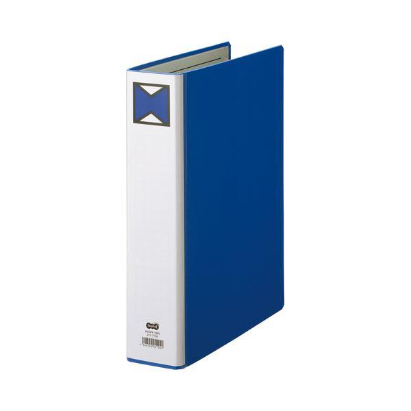 【スーパーセールでポイント最大44倍】(まとめ) TANOSEE パイプ式ファイル 片開き A4タテ 500枚収容 背幅66mm 青 1冊 【×30セット】