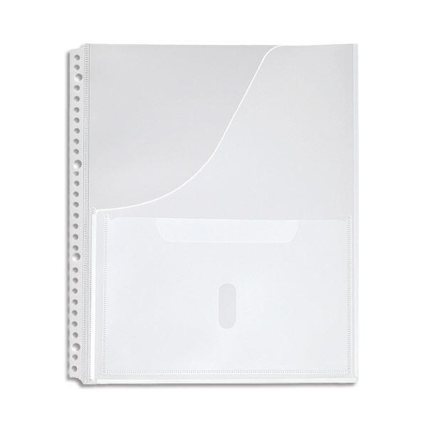 【スーパーセールでポイント最大44倍】(まとめ) キングジム スキットマン 取扱説明書ファイル専用ポケット A4タテ 2・4・30穴 2630P 1パック(4枚) 【×30セット】