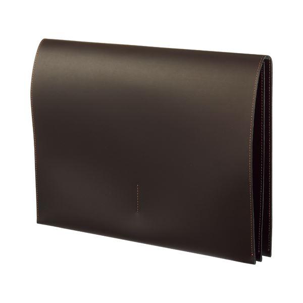 (まとめ) プロッシモ リサイクルレザー スリムレザーケース A4 ブラウン PRORSCA4BR 1冊 【×5セット】