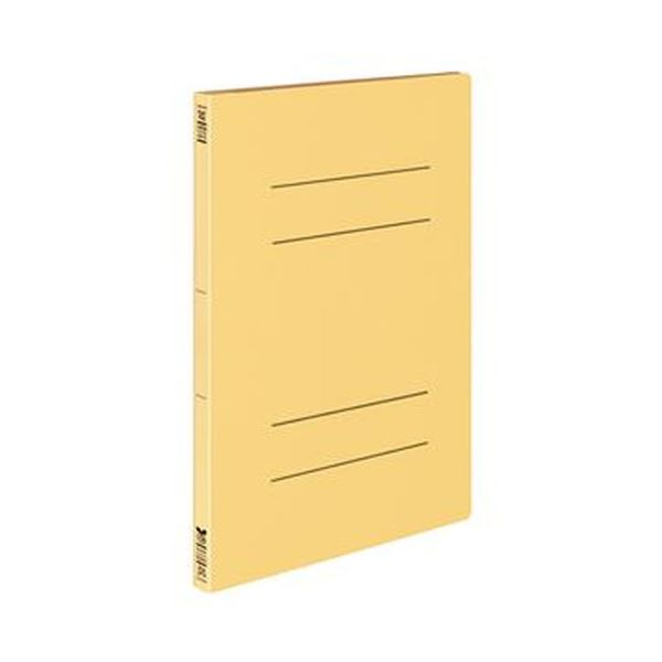(まとめ)コクヨ フラットファイル(オール紙)A4タテ 100枚収容 背幅18mm 黄 フ-RK10NY 1セット(10冊)【×10セット】