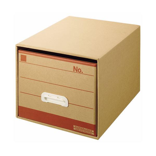 (まとめ) ライオン事務器 文書保存箱 A4用内寸W325×D420×H285mm SCB-12 1個 【×5セット】