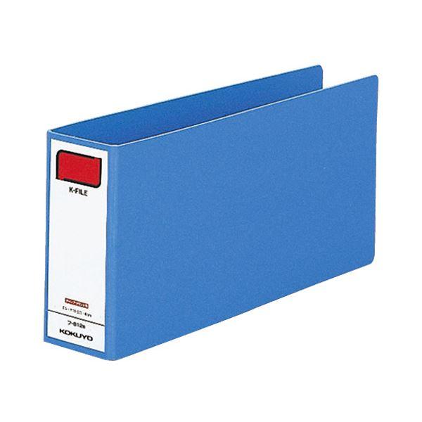 (まとめ) コクヨ 統一伝票用Kファイル T5×Y11 2穴 400枚収容 背幅52mm 青 フ-812B 1冊 【×30セット】