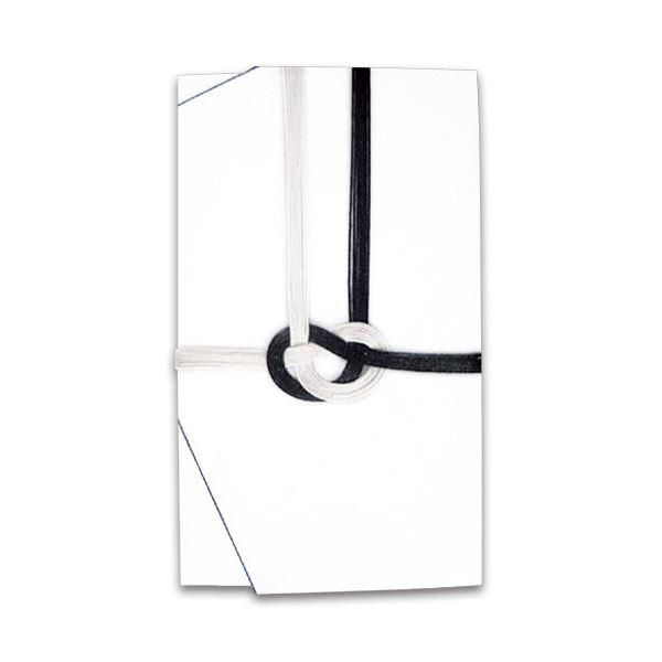 (まとめ) 大阪折 黒白7本 金封 無地 111-1 1枚 【×100セット】