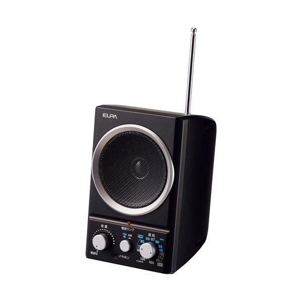 (まとめ)朝日電器 AM/FMスピーカーラジオ ER-SP39F(×10セット)