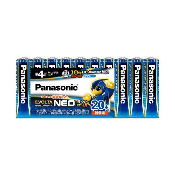 【スーパーセールでポイント最大44倍】(まとめ) パナソニック アルカリ乾電池EVOLTAネオ 単4形 LR03NJ/20SW 1パック(20本) 【×10セット】