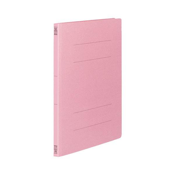 (まとめ) コクヨ フラットファイルV(樹脂製とじ具) B4タテ 150枚収容 背幅18mm ピンク フ-V14P 1パック(10冊) 【×10セット】