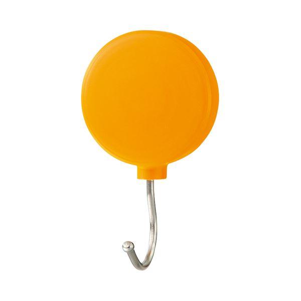 (まとめ) ミツヤ プラマグネットフック スイング式 耐荷重約3Kg オレンジ PMHRM-OR 1個 【×30セット】