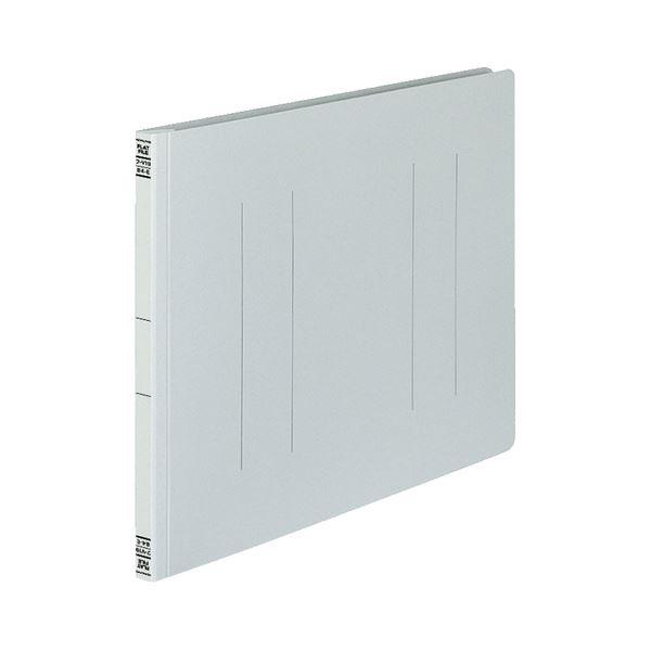 (まとめ) コクヨ フラットファイルV(樹脂製とじ具) B4ヨコ 150枚収容 背幅18mm グレー フ-V19M 1パック(10冊) 【×10セット】