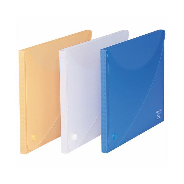 (まとめ) ライオン事務器 ハンドファイル(エール)A4 背幅16mm ブルー HF-853A 1冊 【×30セット】