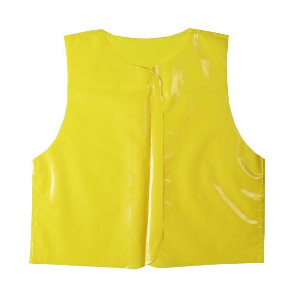 (まとめ)ビニール製衣装ベース Jサイズ(約45cm) ベスト 黄 (10枚入) 【×10個セット】