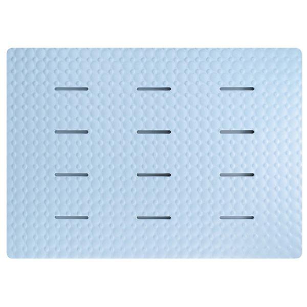 (まとめ) お風呂マット/浴室マット 【ブルー】 防カビ ラバースノコ アクアムーブ バス用品 【15個セット】