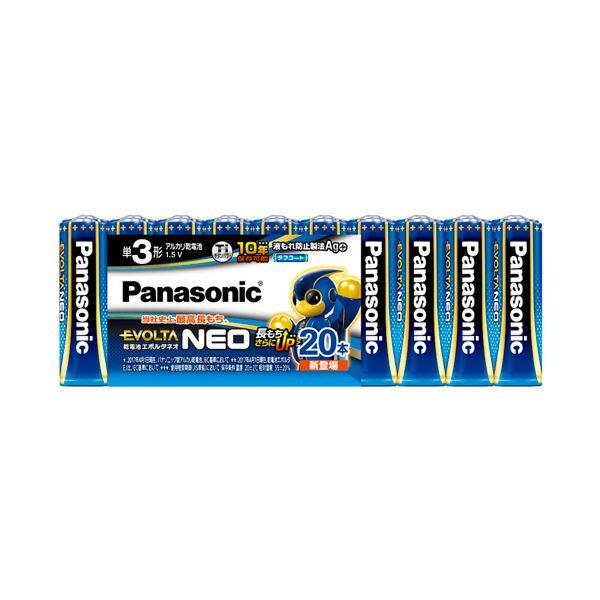 【スーパーセールでポイント最大44倍】(まとめ) パナソニック アルカリ乾電池EVOLTAネオ 単3形 LR6NJ/20SW 1パック(20本) 【×10セット】