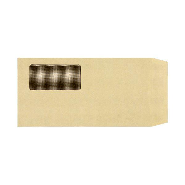【スーパーセールでポイント最大44倍】TANOSEE 窓付封筒 裏地紋付 長3テープのり付 70g/m2 クラフト(窓:グラシン紙)業務用パック 1ケース(1000枚)