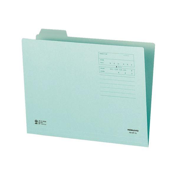 (まとめ)コクヨ 1/4カットフォルダー(カラー)A4 第1見出し 青 A4-4F-1B 1セット(10冊)【×10セット】