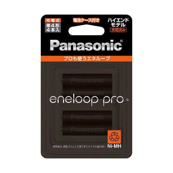(まとめ) パナソニック 充電式ニッケル水素電池eneloop pro ハイエンドモデル 単4形 BK-4HCD/4C 1パック(4本) 【×10セット】