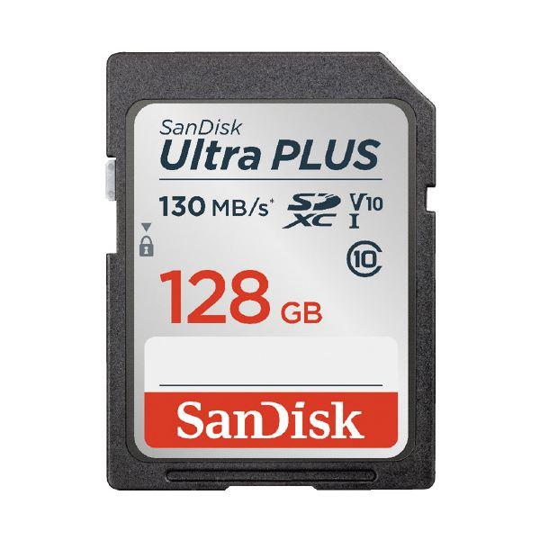 (まとめ)サンディスク SDXCカード 128GB SDSDUW3-128G-JNJIN(×2セット)