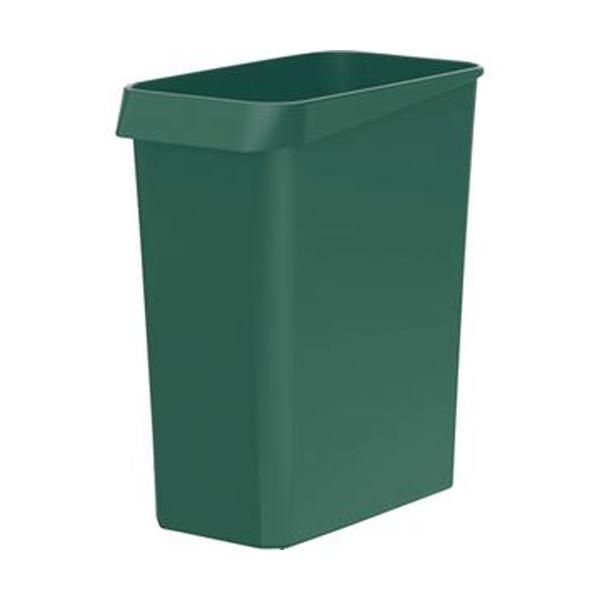 (まとめ)TANOSEE ダストボックス 角型グリーン 1個【×50セット】