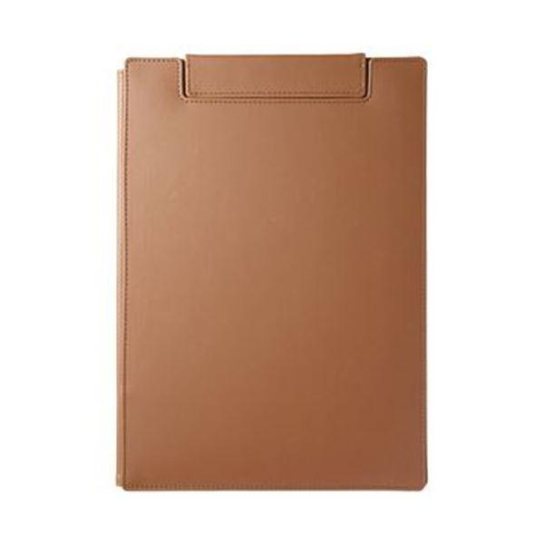 (まとめ)キングジム レザフェスUクリップボード(カバー付)A4 キャメル 1932LU 1枚【×10セット】