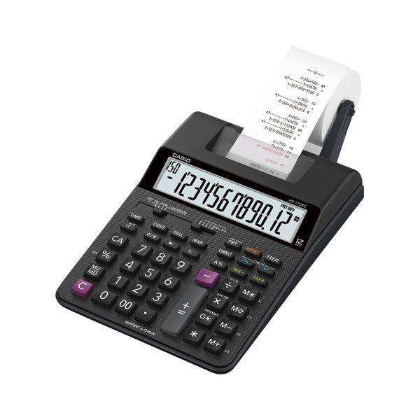 カシオ プリンター電卓 ブラック HR-170RC-BK