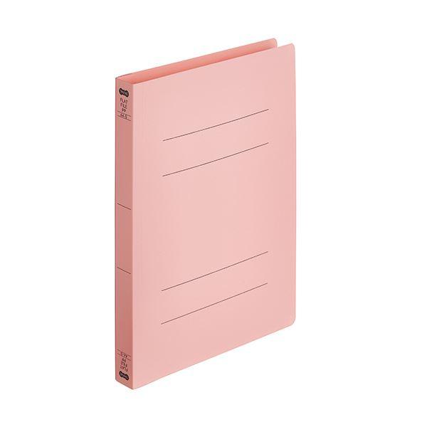 【スーパーセールでポイント最大44倍】(まとめ)TANOSEEフラットファイル厚とじ(PP) A4タテ 250枚収容 背幅28mm ピンク 1パック(5冊) 【×10セット】