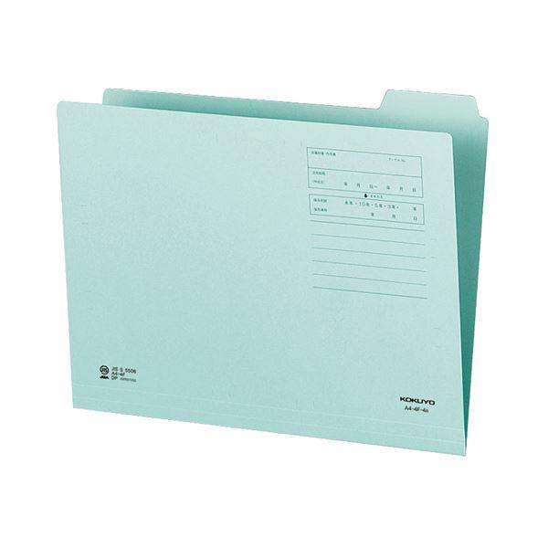 (まとめ)コクヨ 1/4カットフォルダー(カラー)A4 第4見出し 青 A4-4F-4B 1セット(10冊)【×10セット】