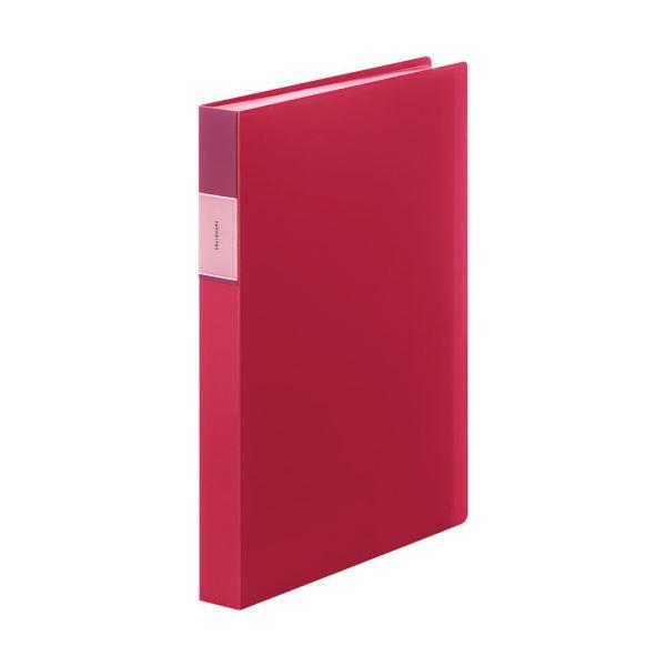 (まとめ) キングジム FAVORITESクリアーファイル(透明) A4タテ 60ポケット 背幅34mm 赤 FV166-3Tアカ 1冊 【×10セット】