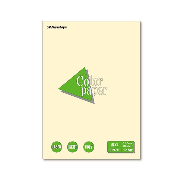 (まとめ) 長門屋商店 Color Paper B5 厚口 レモン ナ-4302 1冊(100枚) 【×30セット】