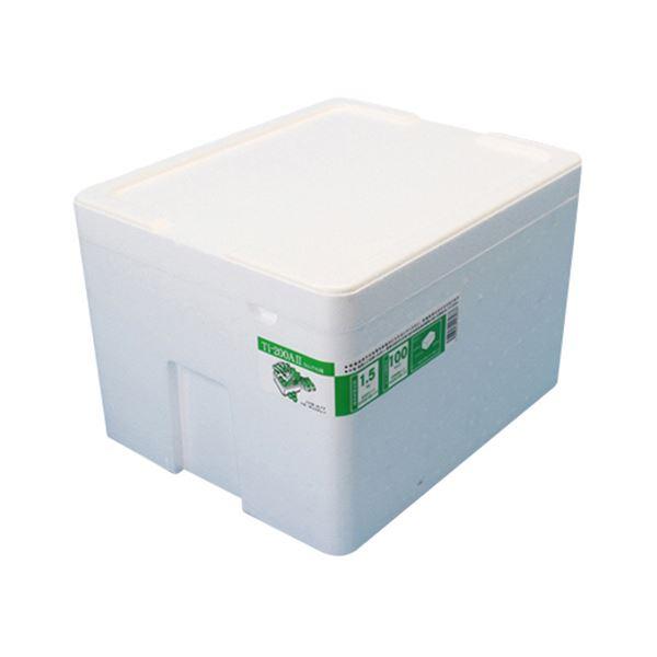 (まとめ)石山 発泡容器 なんでも箱 20.7L ホワイト TI-200AII 1個【×5セット】