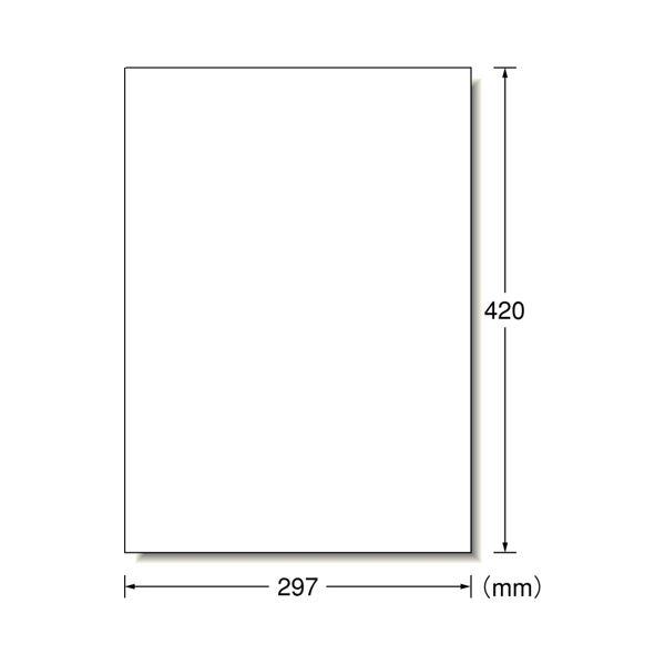 エーワン ラベルシール[プリンタ兼用]マット紙・ホワイト A3判 ノーカット 28424 1冊(100シート)