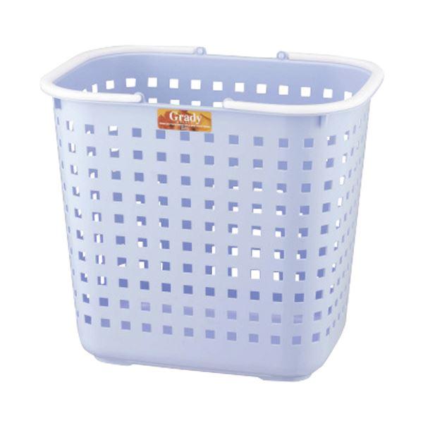 (まとめ)アスベル グレディバスケット L ブルー 1個【×10セット】