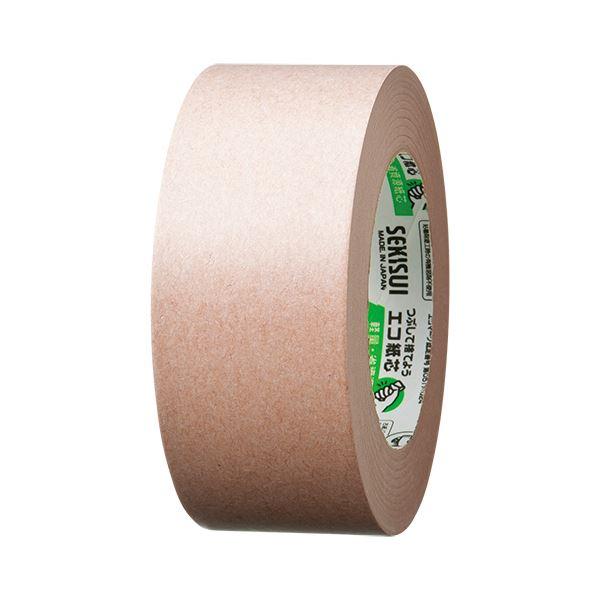 【スーパーセールでポイント最大44倍】(まとめ) 積水化学 エコラパッククラフトテープ #501 50mm×50m K501X03 1巻 【×30セット】