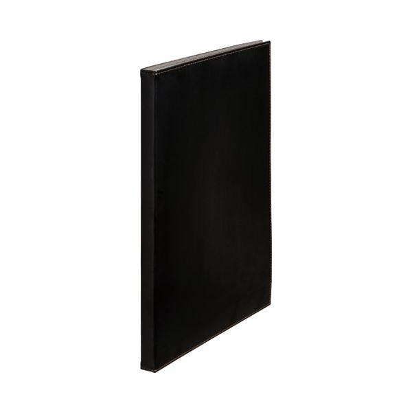 【スーパーセールでポイント最大44倍】(まとめ)キングジム レザフェス クリアーファイル1931LFW 黒【×30セット】