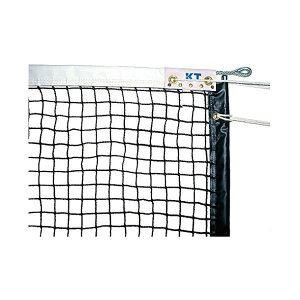 KTネット 全天候式有結節 硬式テニスネット サイドポール挿入式 センターストラップ付き 日本製 【サイズ:12.65×1.07m】 ブラック KT221