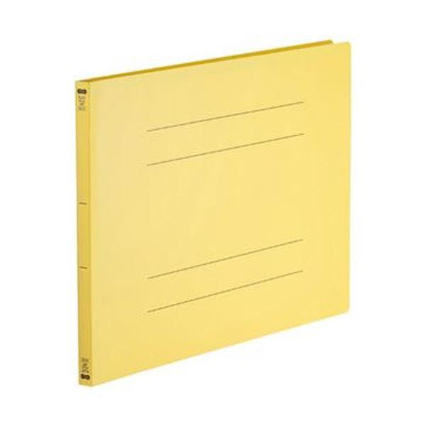 (まとめ)TANOSEE フラットファイル(再生PP)A3ヨコ 150枚収容 背幅18mm イエロー 1パック(5冊)【×10セット】