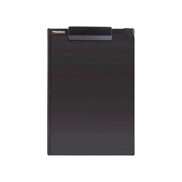 【スーパーセールでポイント最大44倍】(まとめ)TRUSCOペンホルダー付クリップボード(マグネット付) A4縦 黒 TCBM-A4E-BK 1個 【×10セット】