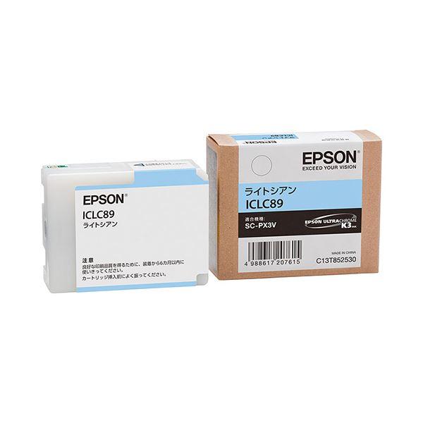 【スーパーセールでポイント最大44倍】(まとめ) エプソン EPSON インクカートリッジ ライトシアン ICLC89 1個 【×10セット】