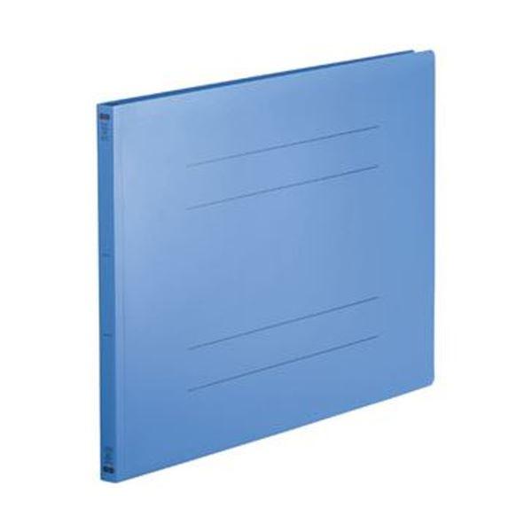 (まとめ)TANOSEE フラットファイル(再生PP)A3ヨコ 150枚収容 背幅18mm ロイヤルブルー 1パック(5冊)【×10セット】