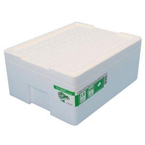 (まとめ)石山 発泡容器 なんでも箱 12.7Lホワイト TI-125IV 1個【×20セット】