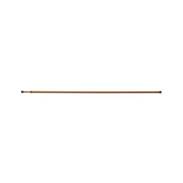 (まとめ) つっぱり棒/ポールハンガー 【木調 LLL 長さ120~200cm】 ネジ・クギ不要 伸縮 リビングポールミニ 【×24個セット】