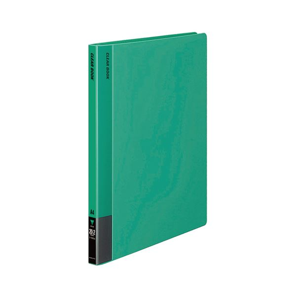 コクヨ クリヤーブック(固定式)A4タテ 20ポケット 背幅18mm 緑 ラ-560G 1セット(20冊)