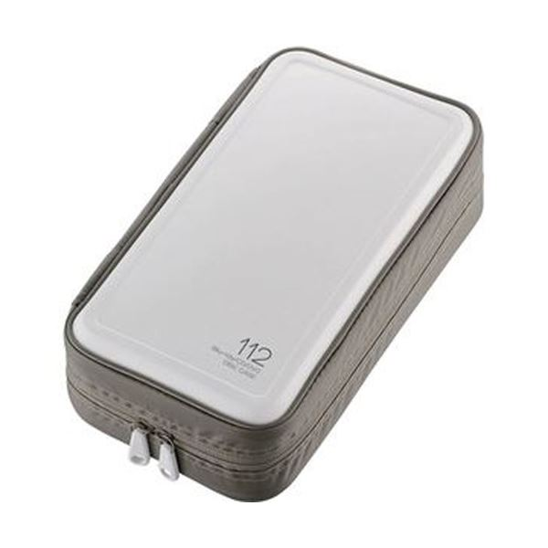 (まとめ)エレコム Blu-ray・CD・DVD対応ファスナーケース 112枚収納 ホワイト CCD-HB112WH 1個【×10セット】