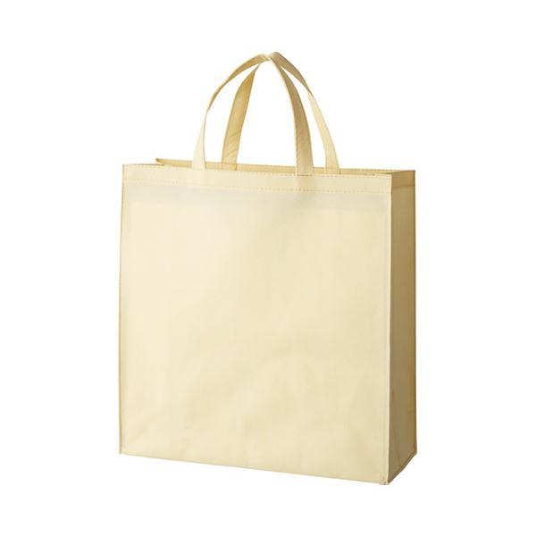 【スーパーセールでポイント最大44倍】(まとめ) スマートバリュー 不織布手提げバッグ小10枚ベージュB450J-BE【×10セット】