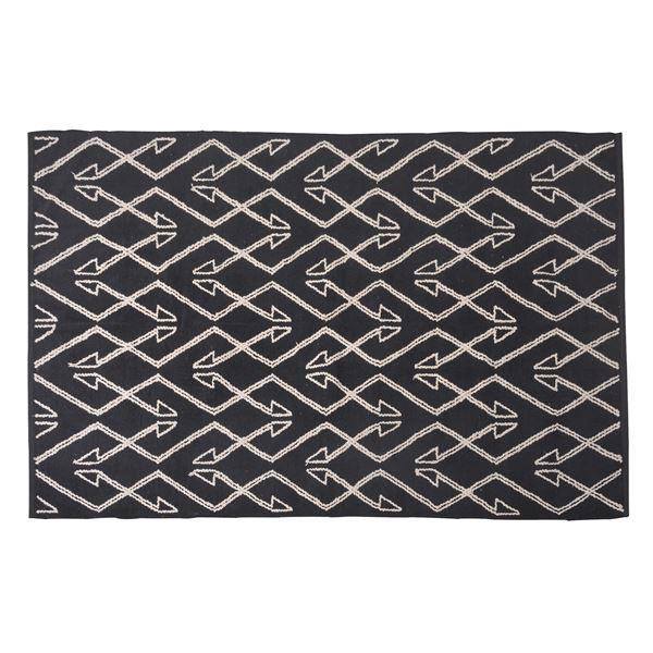 エスニック調 ラグマット/絨毯 【170×230cm TTR-171A】 長方形 綿100% インド製 収納袋付き 〔リビング ダイニング〕