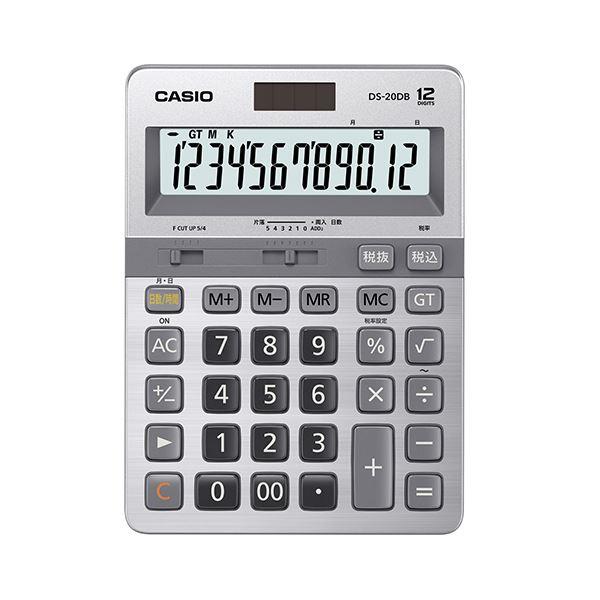 【マラソンでポイント最大43倍】カシオ 本格実務電卓日数&時間計算 12桁 DS-20DB-N 1台