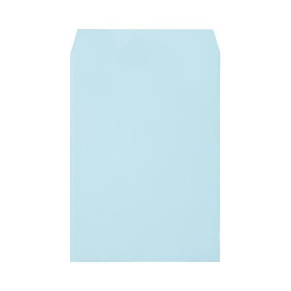 (まとめ) キングコーポレーション ワンタッチテープ付ソフトカラー封筒 角2 100g/m2 ブルー K2S100BQ50 1パック(50枚) 【×10セット】