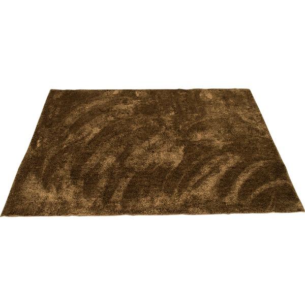 カーペット ラグ 敷物 室内 芝生ラグ 190×190cm ブラウン オーシャン 九装