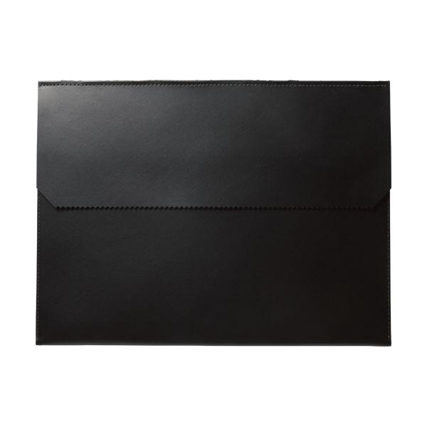 (まとめ)プロッシモ リサイクルレザードキュメントフォルダ A4 ブラック PRODFA4BLK 1冊 【×3セット】
