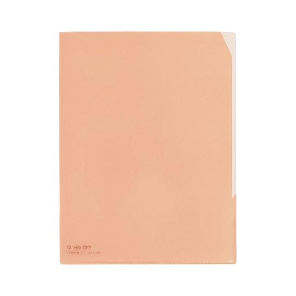 (まとめ) キングジム CLホルダー A4タテ 赤コーナーカット付 734 1セット(10枚) 【×10セット】