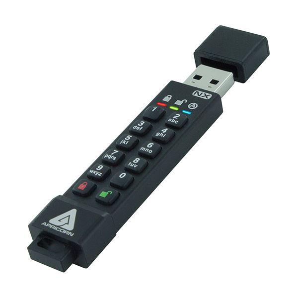 Apricorn AegisSecure Key 3NX 暗証番号対応USBメモリー 8GB ASK3-NX-8GB 1個