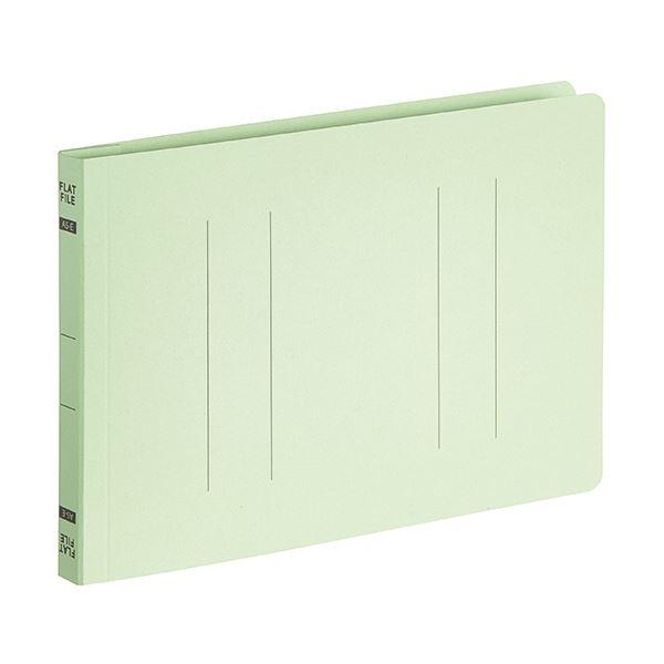 【スーパーセールでポイント最大44倍】(まとめ)TANOSEEフラットファイルE(エコノミー) A5ヨコ 150枚収容 背幅18mm グリーン 1パック(10冊) 【×10セット】